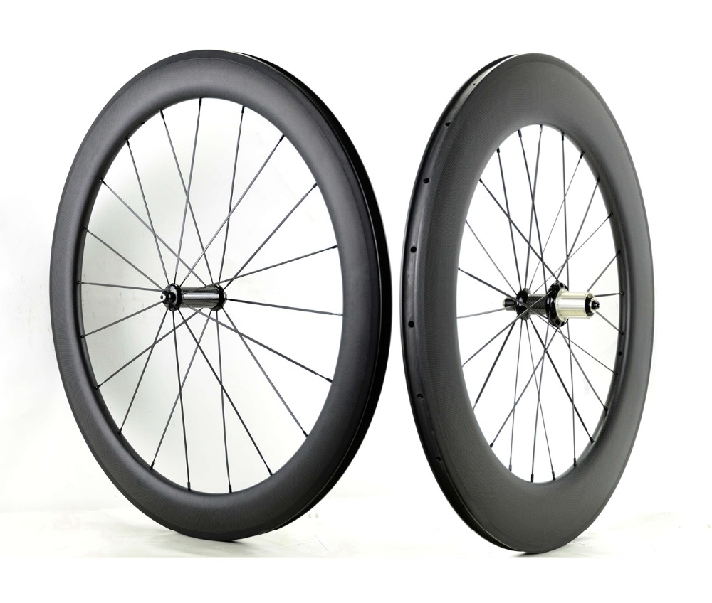 700C Front 60mm Rear 88mm depth carbon wheels 25mm width Clincher/Tubular carbon fiber Road bike wheelset with Powerway R36 hub 2017 limited promotion bike wheels full carbon fiber wheels road bike 40mm 700c rim front 20 holes rear 24 wheelset hot sale