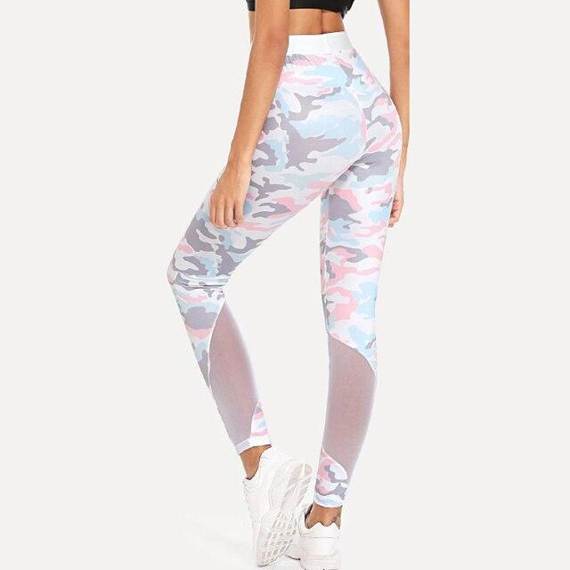 e28f3f1082ad8 Women Mesh Camo Leggings Pink White Camouflage Leggins Girls Warm Winter  Legginsg Global Drop Shipping
