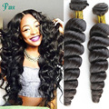 Cheap hair products 4 bundles Brazilian virgin hair brazilian  loose wave human hair bundles curly virgin hair free of shipping