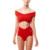 2 unidades set mujeres sexy Crop Top + Briefs cruz Roja bikini traje de baño Elástico corto 2017 chándales de las mujeres de alta elástico sweatsuit