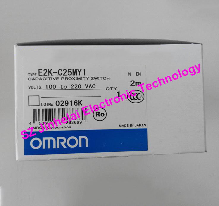 100% New and original OMRON CAPACITIVE PROXIMITY SWITCH  E2K-C25MY1   2M  100-220VAC new original proximity switch im12 04bns zw1