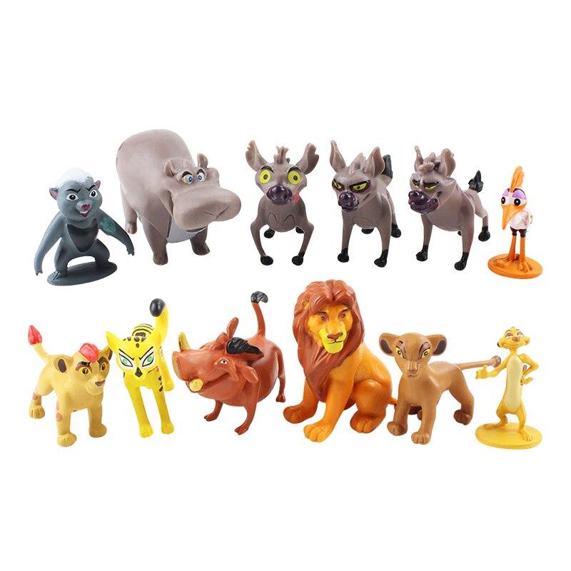 12pcs Cartoon The Lion Guard King Kion Simba PVC Action Figures Bunga Beshte Fuli Ono Figurines Doll Kids Toys For Children Boys