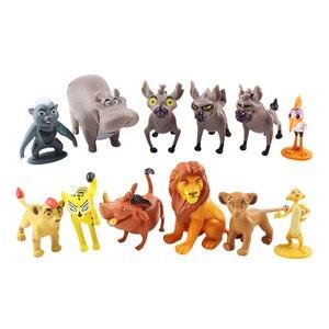 12pcs Cartoon The Lion Guard King Kion Simba PVC Action Figures Bunga Beshte Fuli Ono Figurines Doll Kids Toys for Children Boys(China)