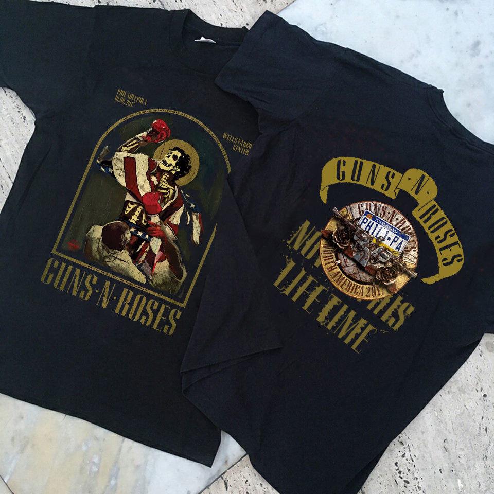 Custom T Shirt Designer O-Neck Men Rare!!Guns N Roses Notinthis Lifetime Graphic Short Sleeve T Shirts