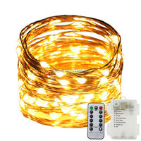 Battery Powered 10M 33FT 100LEDs Copper Wire LED String Lights Outdoor Starry Lights 8 Modes