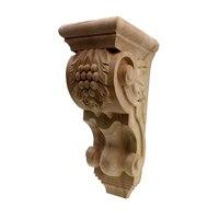 RUNBAZEF Wood Decoration Applique Vintage Creative Home Decor Maison Accessories Wooden Figurines Miniatures Carved Wall Column