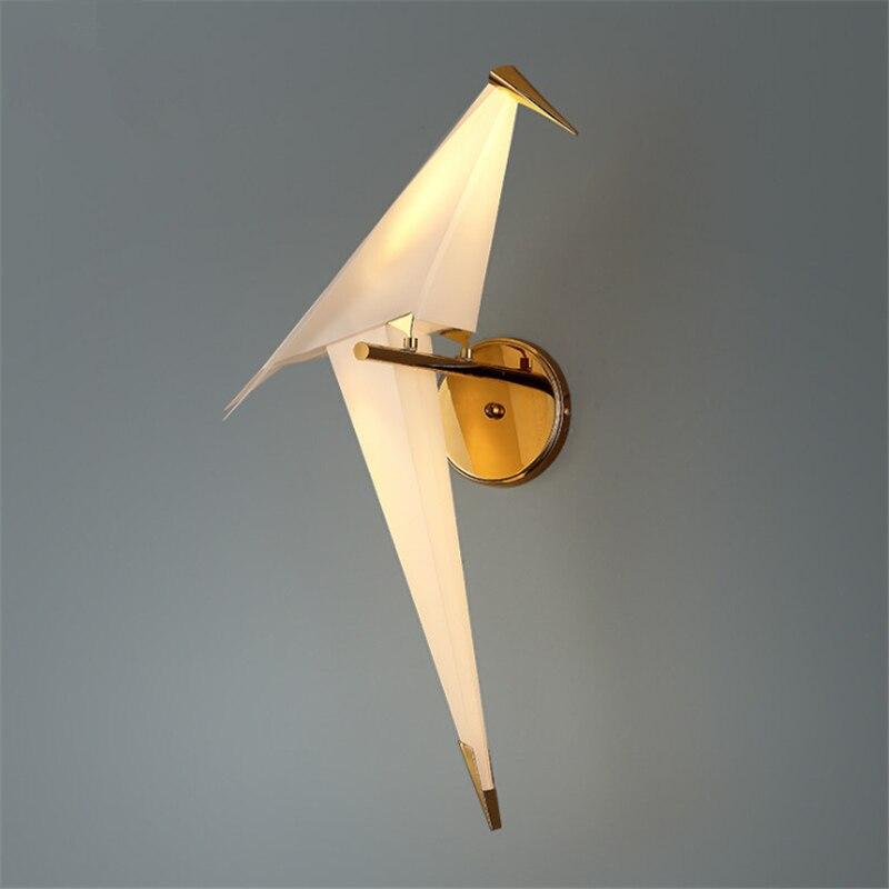 Nordic Pós-moderna Decoração Da Lâmpada de Cabeceira Luz CONDUZIDA Da Parede Papagaio Criativo Restaurante Varanda Do Quarto Sconce Da Lâmpada de Parede Da Arte Do Pássaro