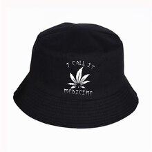 WEED I CALL IT MEDICINE Women Mens Panama Bucket Hat WEED I CALL IT MEDICINE LOGO Design Flat Sun Visor Fishing Fisherman Hat