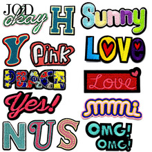 JOD Personalized Letter Clothes Patches Alphabet Embroidered Stickers Jacket Dress Applique Decoration Ironing Application Brand