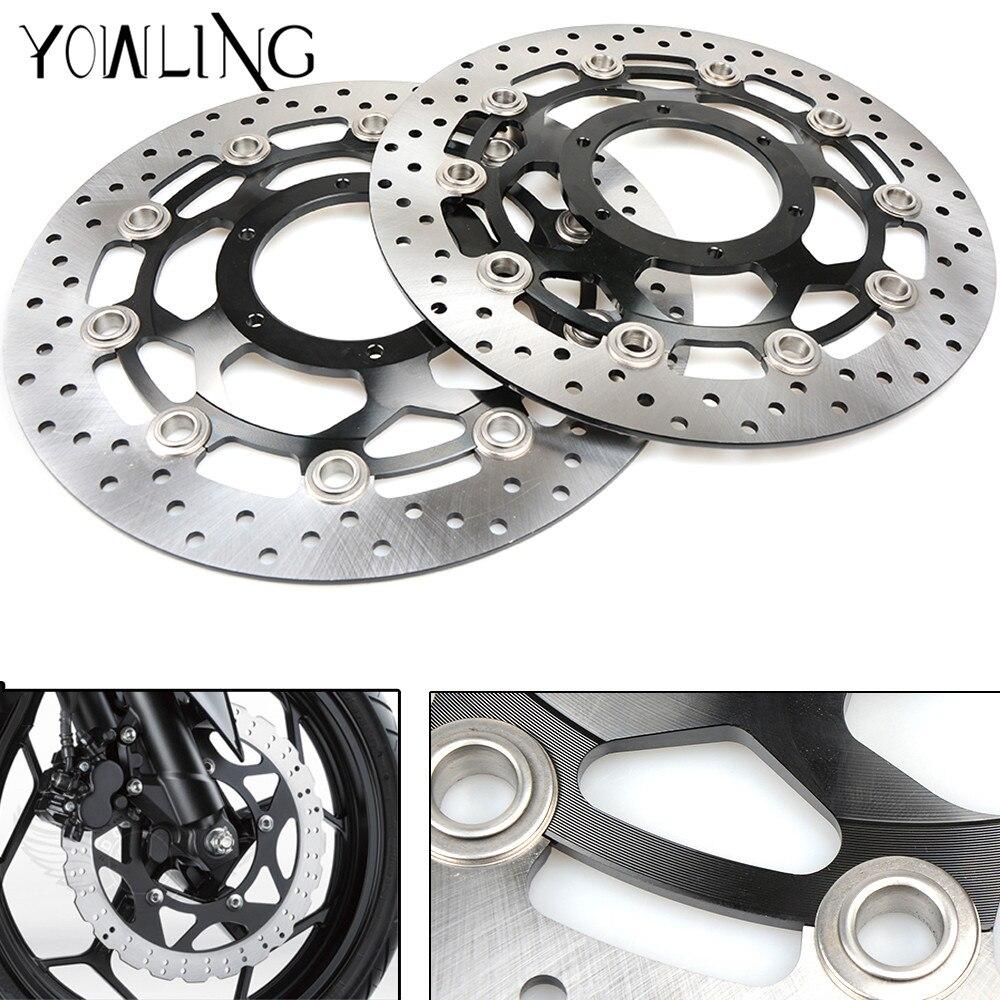 цены на CNC Floating Front Brake Disc Brake Rotors for Honda CBR600RR 2003 2004 2005 2006 2007 2008 2009 2010 2011 2012 2013 2014 в интернет-магазинах