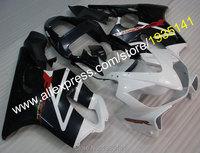 Hot Sales,For Honda CBR600 F4i 2001 2002 2003 CBR 600 F4i 01 02 03 CBR 600F4i White Black Motorbike Fairing (Injection molding)