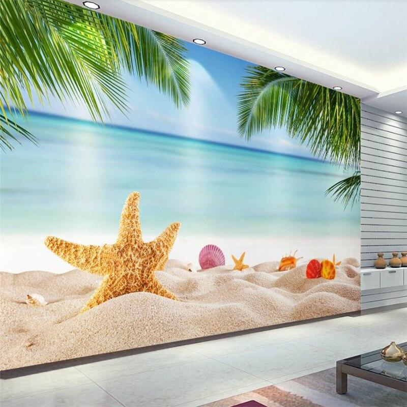 beibehang Wallpaper custom living room bedroom blue