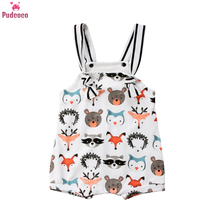Toddler Summer Clothes Infant Newborn Baby Girl Boy Romper Sleeveless Print Animal Pattern Jumpsuit Sunsuit Onesie