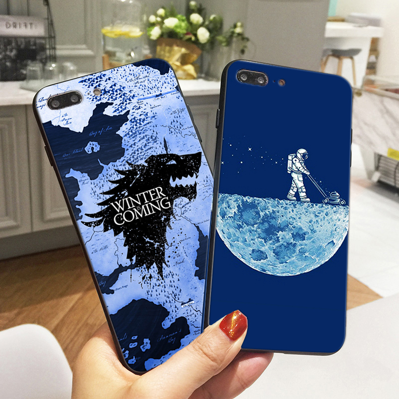 Game of Thrones Case For Samsung galaxy a8 2018 Case Outer Space Astronaut Moon Soft Silicon Phone Cover For Samsung a5 j5 2017 image