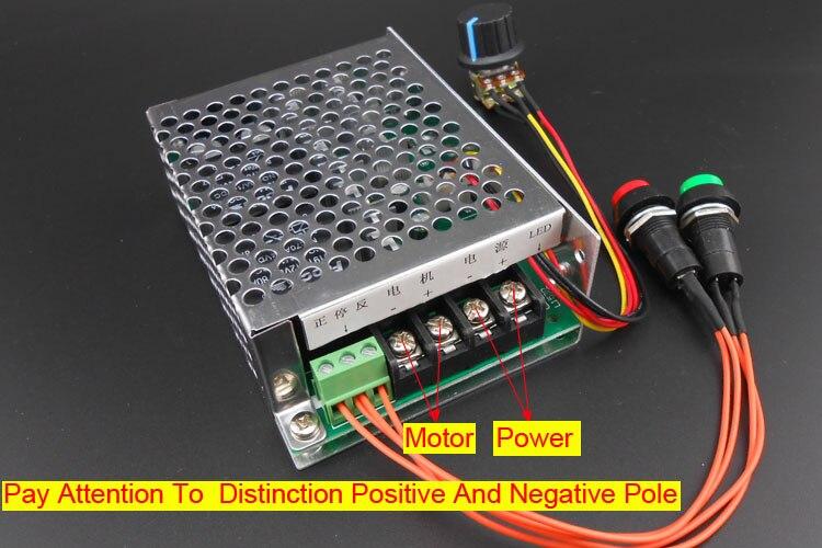 40a No Lock Button Switch Dc Motor Speed Regulator