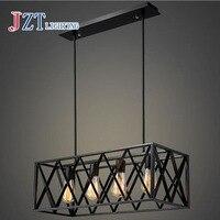 American Retro промышленного ветер черный гладить подвесной светильник люстра для гостиная спальня Ресторан коммерческих помещений