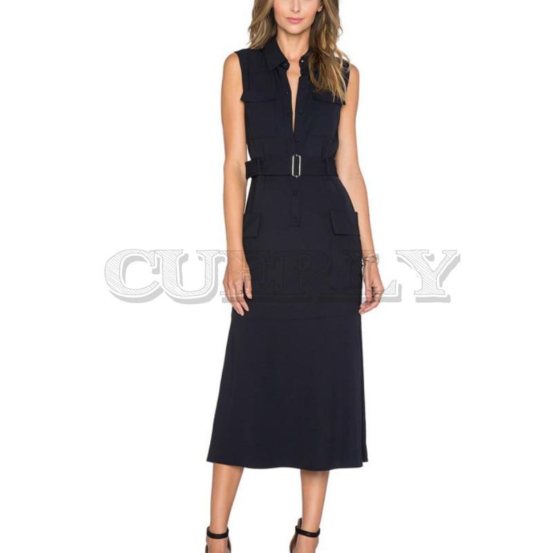 Long Dress Milan Runway High Quality 2019 Summer New Women'S Fashion Party Work Sexy Vintage Elegant Chic Black Vest Dresses