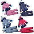Зимнее Пальто для мальчиков Пуховик Девушки Мягкие Парки Дети Теплый комплект одежды Детей Снег Верхняя Одежда Пальто