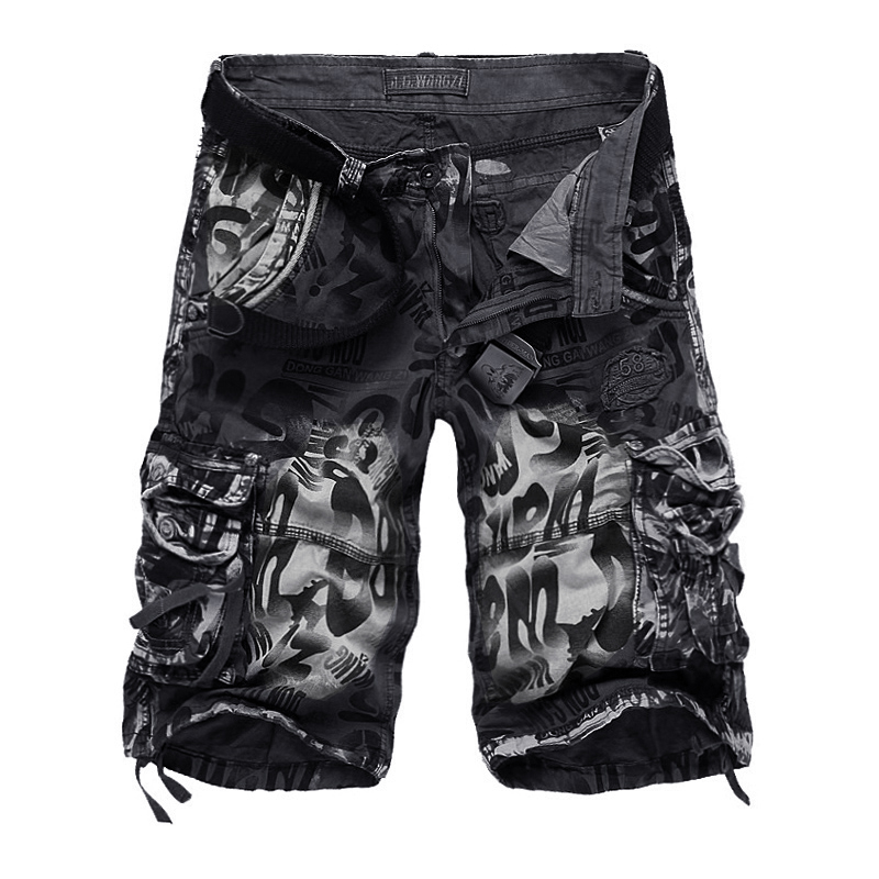 2021 Summer New Large Size 29-42 Loose For Men's Military Cargo Beach Shorts Army Camouflage Short Trouers