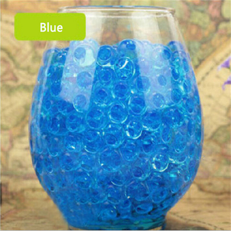 1000pcs Water Plant Flower Jelly Crystal Soil Mud Water Pearls Gel Beads Balls Decoration Vase