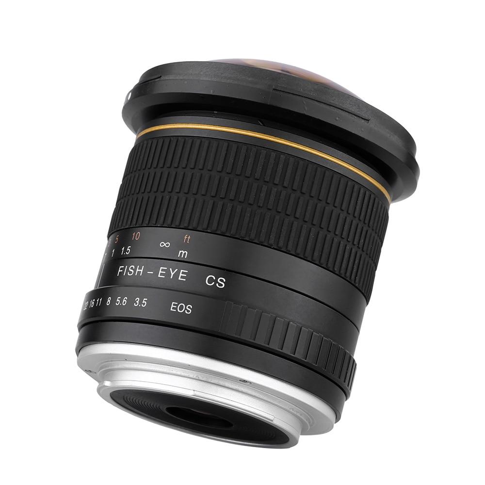 Kelda 8mm F/3.5 F3.5 Ultra Large Fisheye camera LENS pour canon 60d 650d 700d 750D 600d 550d 500d 1000d 1200D 1300D 70D 760D 80D - 4