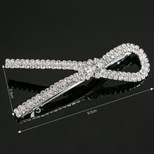 Fashion Silvery Plated Crystal Hair Clip