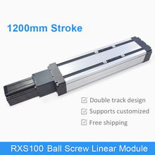 RXS-100 SFU1610 Ball Screw 1200 mm CNC Linear Motion Module Guide XY Slide Table Rail Stage Servo Motorized Robotic Arm Kit