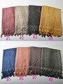 Bufandas mujeres de la alta manera 2016, encaje de algodón bufanda, hijab llano, die empate bufanda, hijab Musulmán, chales y bufandas, bufanda, cabo, envolturas