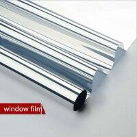 HOHOFILM 1.52x30m silver Window Glass Film One Way Mirror Silver Heat Insulation Stickers Heat proof Cool Summer