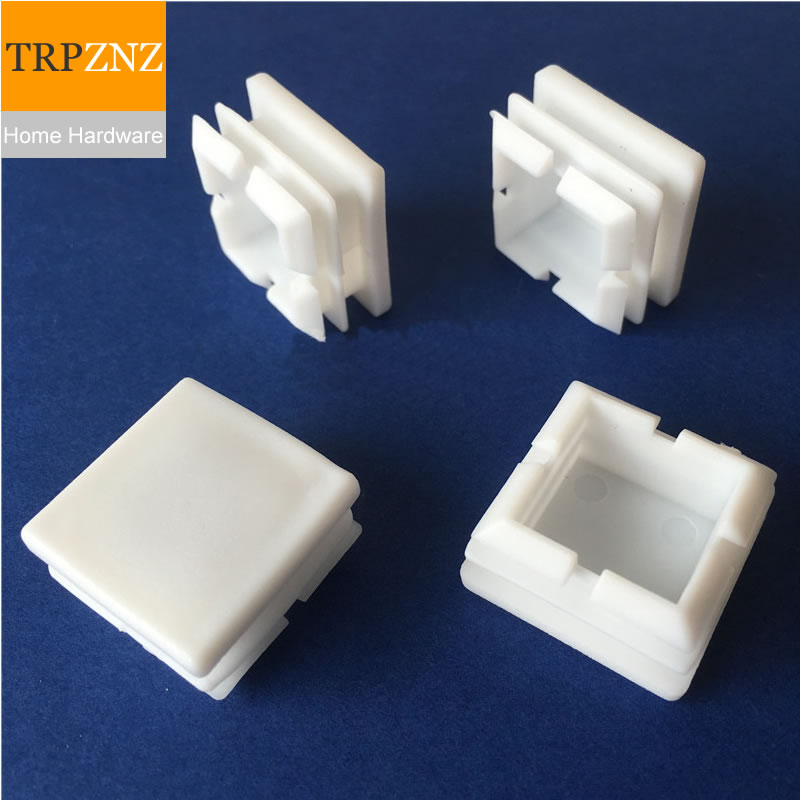 Plastic Square Tube Plug White Nese Steel Pipe Cap Table And Chair Stool Mat Not Easy To Wear Plastic Material