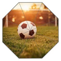 New Custom Soccer Ball Artwork Umbrella Sunny and Rainy Sunscreen Anti-uv Umbrella #QAZ098K