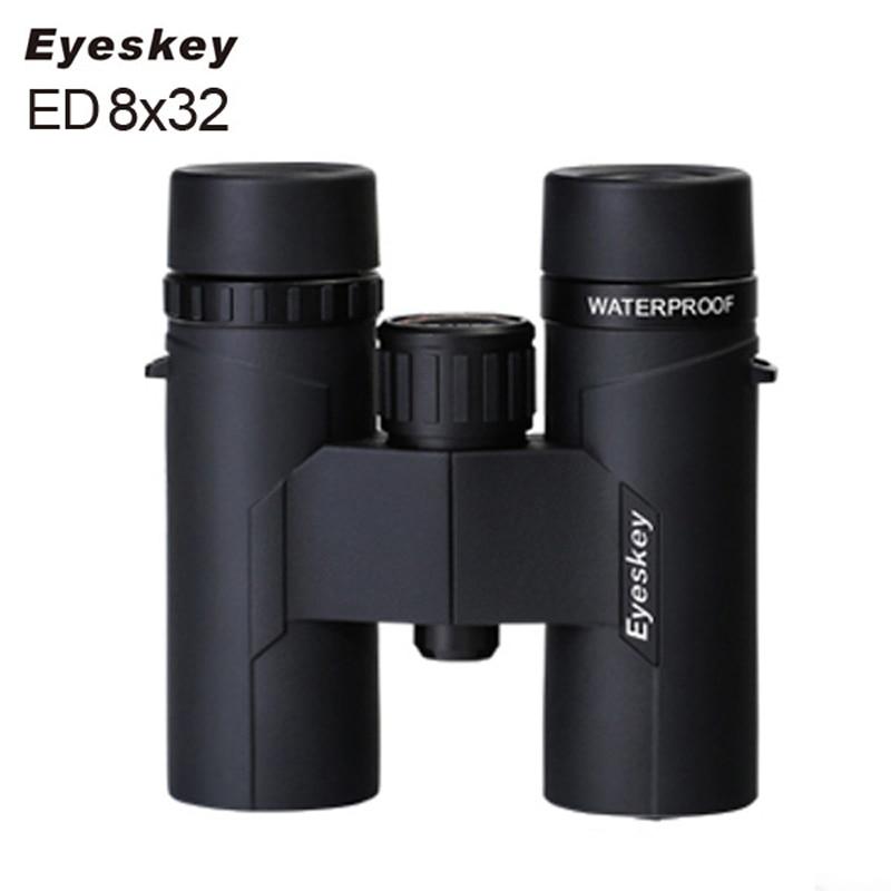 Eyeskey ED 8x32 Camping Travel Hiking Binocular Scope Bird Watching Waterproof Night Vision Telescope Telescopio Verrekijker бинокль eschenbach trophy d 8x32 ed