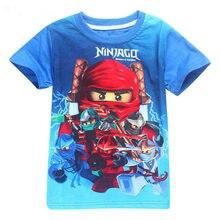Novo verão camiseta do bebê menino roupas dos miúdos meninos ninja roupas ninjago t camisa crianças roupas de algodão bebê menino topo t meninas