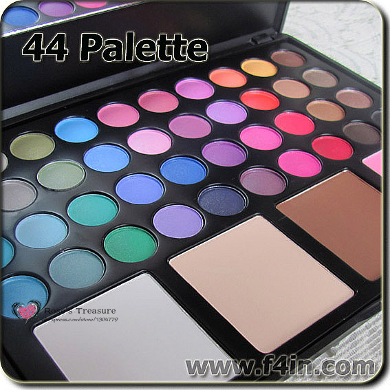 New Pro 44 makeup palette set 40 color eyeshadow palette + 4 blusher palette face powder