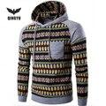 2016 Hoodies Mens Hombre Hip Hop Male Brand Hoodie Fashion Geometric Print regular Sweatshirt Suit Men Slim Fit Men Hoody XXL