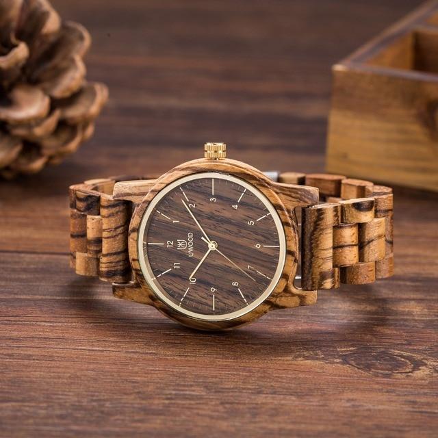 2019 relojes para hombre marca de lujo Casual de cuarzo-reloj de madera correa de reloj de los hombres de sándalo reloj relogio masculino