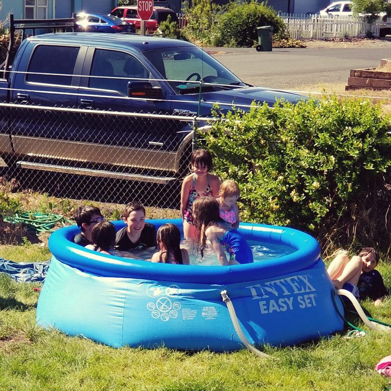 Above Ground Pool Type Intex 8ft x30in Piscina Easy Set Inflatable