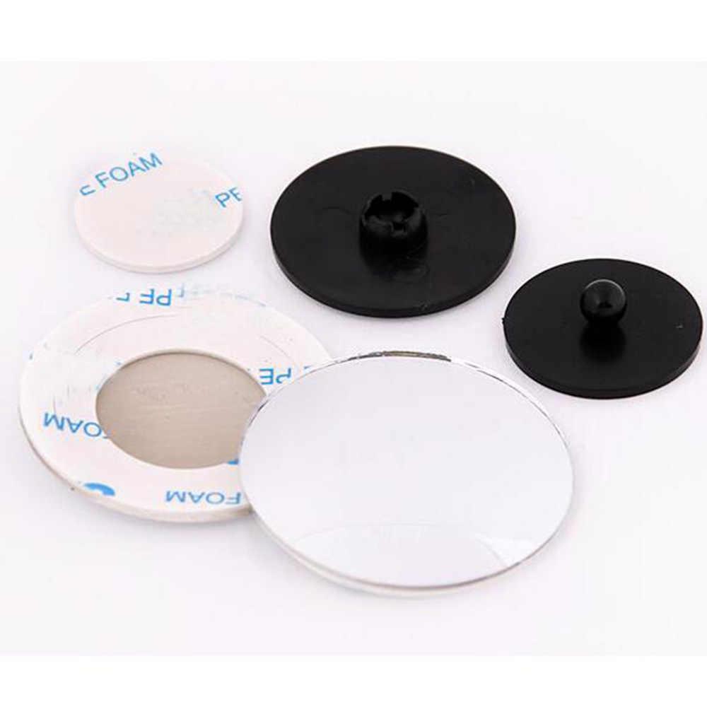 2 Pcs/lot HD Reversing Kecil Bulat Cermin Blind Spot Kaca Reverse Tambahan Lensa Tidak Ada Perbatasan