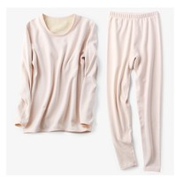 Silk silk underwear with thickened brushed female off cashmere cashmere moisturizing long johns warm suit