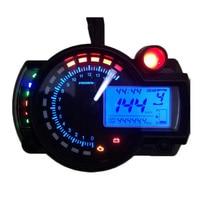 2016 15000 rpm moderna RX2N KOSO similar LCD digital del velocímetro del odómetro de La Motocicleta ajustable MAX 299 KM/H Freeshipping
