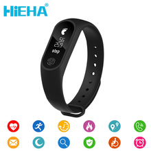 Hieha м2 плюс smart touch экран часы фитнес-трекер сердечного ритма браслет группа сообщение вызов напоминание для xiaomi android ios