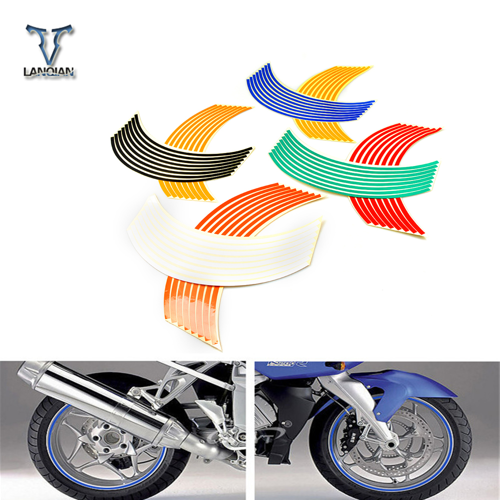16 Strips 17inch/18inch wheel Motorcycle Wheel Tire Rim Stickers for Kawasaki Yamaha Suzuki sv650 sv650s 1999-2009 sv 650 650 s