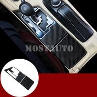 For Lexus ES 250 300h Carbon Fiber Console Gear Shift Box Trim Cover 2013 2014 2pcs