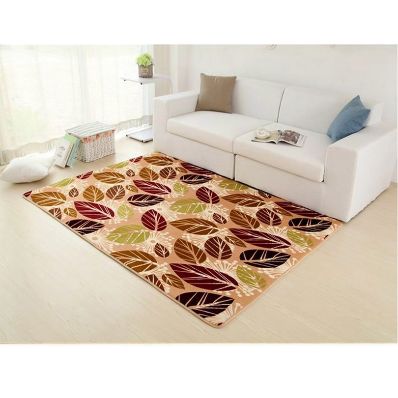 Pastoral Rugs And Carpets For Living Room Coral Velvet Bedroom Floor Mat Coffee Table Area Rug