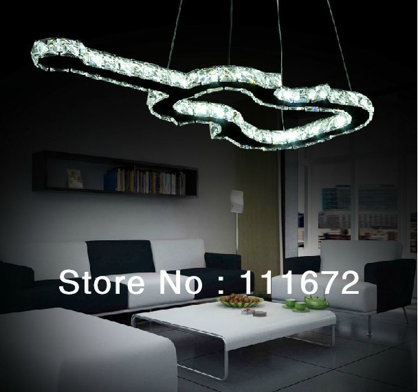 Aliexpress.com : Buy new Creative Guitar LED crystal chandelier ...