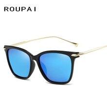 ROUPAI Brand 2017 Sunglasses for Men Women Polarized Vintage Sunglass High-Quality Square sun glasses UV400 0812