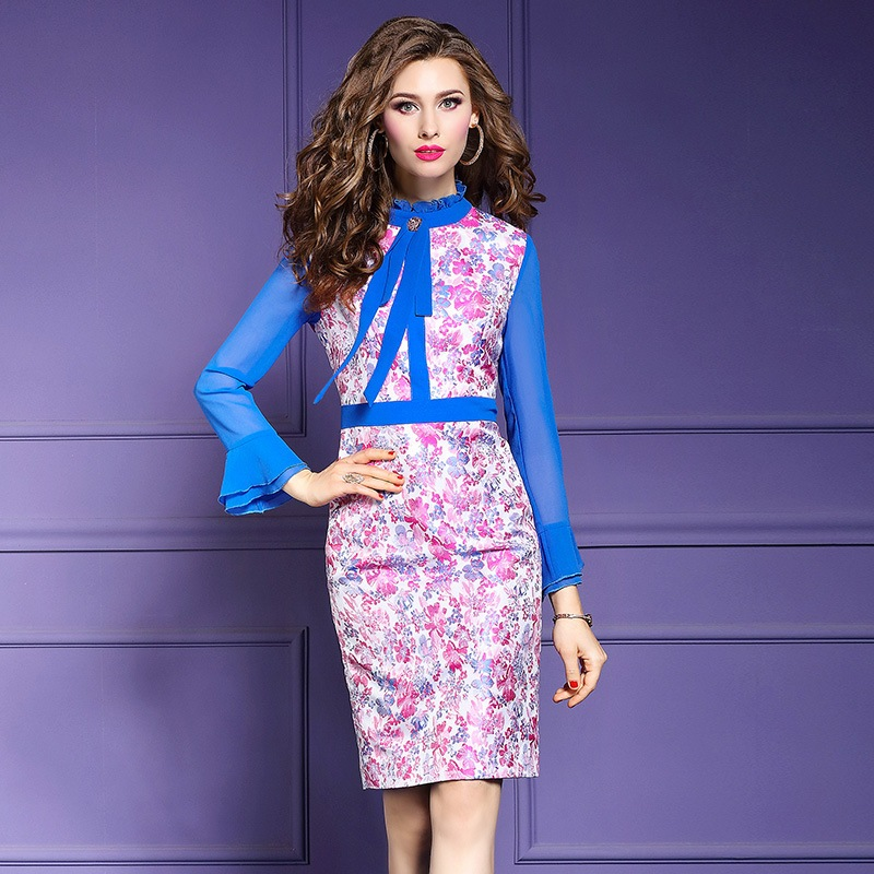 Office Lady Package hip Pencil dress Spring 2019 new Flare Sleeve Women Party Dress Plus Size