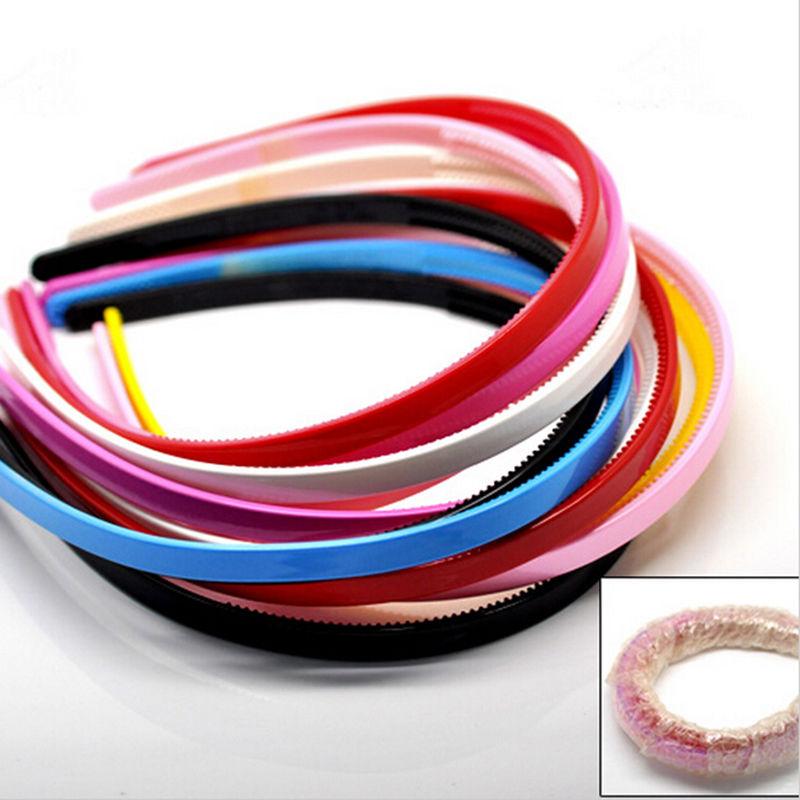 Simple Design Teeth candy color Headbands  3PCS Plastic hairbands Ladies/Girls/Kids Simple Style Hair Hoops bead