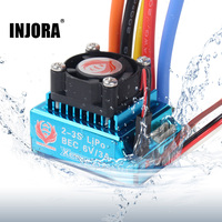 120A RC Car Waterproof Brushless ESC Speed Controller with BEC 6V/3A for 1/10 RC Crawler SCX10 90046 Traxxas TRX4