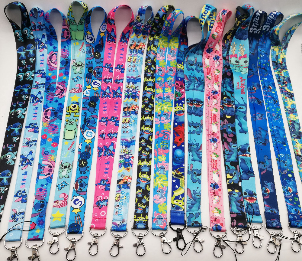 Free shipping 50 Pcs Wholesale lot Mix Stitch Necklace Strap Lanyards Cell Key Chains H 60